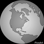 globe image represents global economy