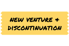 new venture and discontinuation are types of organizational change